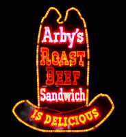 Arby's neon sign, Port Huron MI, 2015