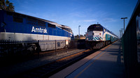 SDNX 2101 and Amtrak 451, Oceanside CA