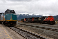 CN 8932 West and VIA 6452 West, Jasper AB