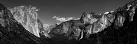 Tunnel View panorama B&W