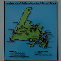 2 - Map of Newfoundland's railways