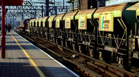 66 114 EWS aggregate train at Stratford - 3